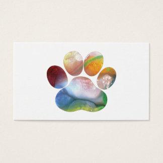 Cartão De Visitas Impressão da pata do cão