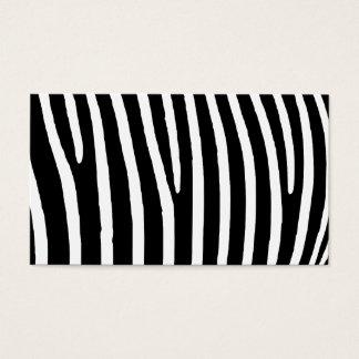 Cartão De Visitas Impressão da zebra