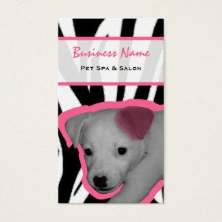 Cartão De Visitas Impressão da zebra e termas & salão de beleza