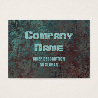 """Cartão De Visitas Impressão """"de cobre"""" """"descrição"""" da corrosão"""