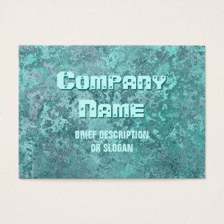 """Cartão De Visitas Impressão """"descrição"""" do verde da corrosão carnudo"""