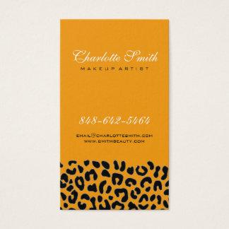 Cartão De Visitas Impressão do leopardo