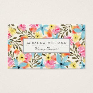 Cartão De Visitas Impressão floral do paraíso