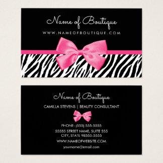 Cartão De Visitas Impressão na moda da zebra com o boutique