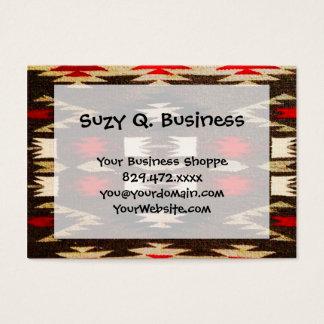 Cartão De Visitas Impressão tribal do design do Navajo do nativo