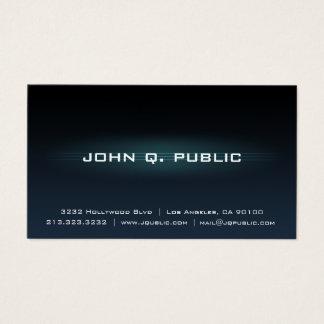Cartão De Visitas Inclinação azul escuro profissional