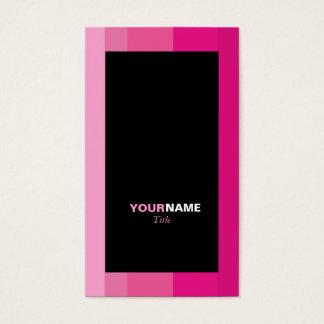 Cartão De Visitas Inclinação cor-de-rosa de Groupon listrado