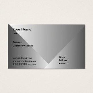 Cartão De Visitas Inclinação-Negócio cinzento