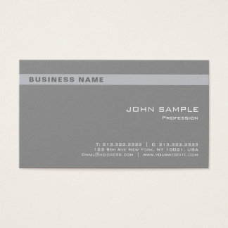 Cartão De Visitas Incorporado chique cinzento profissional elegante