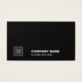 Cartão De Visitas Incorporado liso simples preto elegante