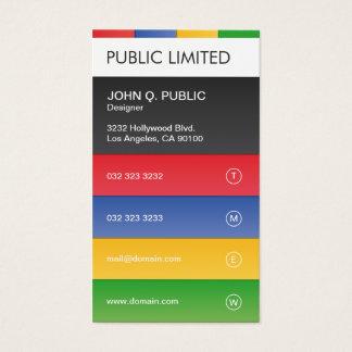 Cartão De Visitas Incorporado profissional moderno colorido