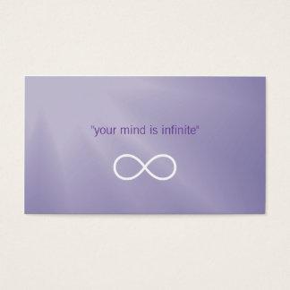 Cartão De Visitas Infinidade pessoal do instrutor |