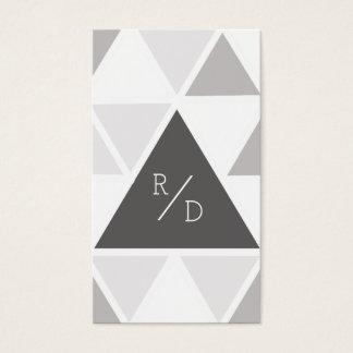 Cartão De Visitas Iniciais feitas sob encomenda urbanas & modernas