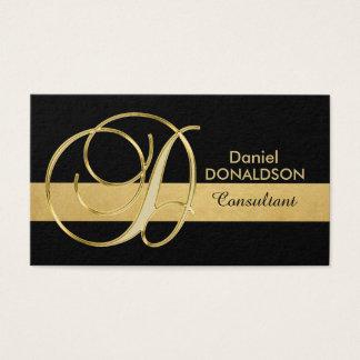 Cartão De Visitas Inicial Monogrammed elegante feita sob encomenda