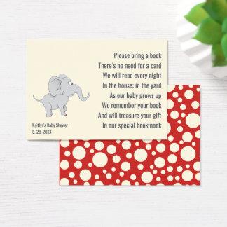 Cartão De Visitas Inserção bonito do pedido do livro do chá de