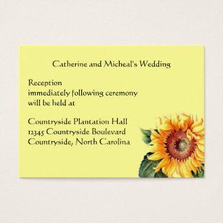 Cartão De Visitas Inserção do local de encontro da recepção de