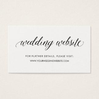 Cartão De Visitas Inserção Wedding moderna simples do Web site da