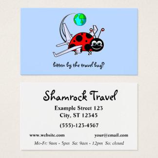 Cartão De Visitas Inseto do viagem - avião do inseto da senhora -