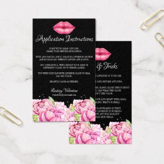Cartão De Visitas Instruções da aplicação dos lábios e pontas e