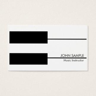 Cartão De Visitas Instrutor das lições de piano do professor de