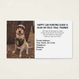 Cartão De Visitas Instrutor de caça/de acampamento da experimentação