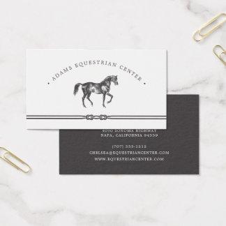 Cartão De Visitas Instrutor de montada equestre dos estábulos   do