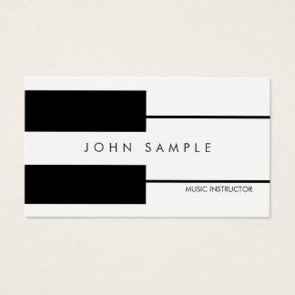 Cartão De Visitas Instrutor do profissional das lições de piano da
