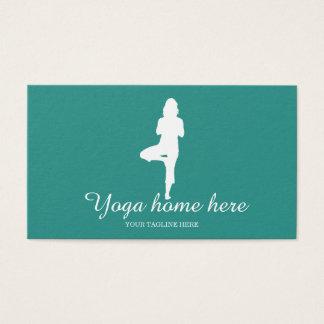 Cartão De Visitas Instrutor elegante da ioga