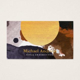Cartão De Visitas Instrutor moderno minimalista da ioga da aguarela