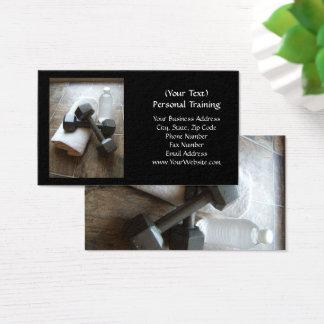Cartão De Visitas Instrutor ou toalha & água pessoal de Dumbells da