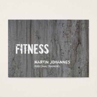 Cartão De Visitas Instrutor pessoal da parede cinzenta criativa