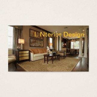 Cartão De Visitas Interior belamente decorado