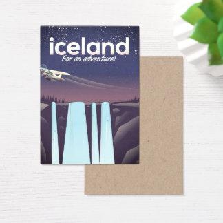 """Cartão De Visitas Islândia """"para uma aventura! """""""