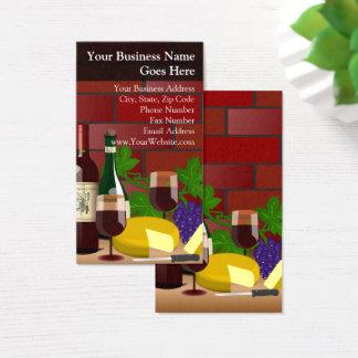 Cartão De Visitas Italiano do restaurante da comida da cena da mesa