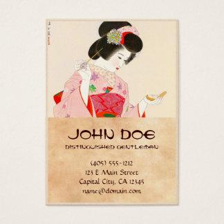 Cartão De Visitas Ito Shinsui compo a senhora japonesa da gueixa do