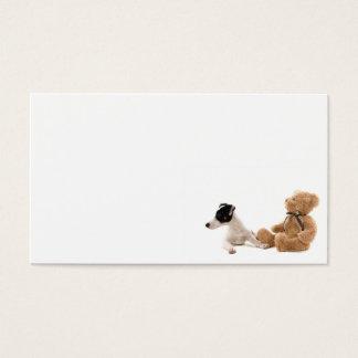 Cartão De Visitas jaque Russel e seu brinquedo