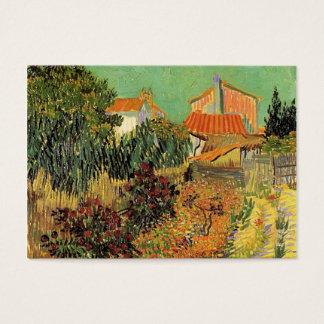Cartão De Visitas Jardim atrás de uma casa por Van Gogh