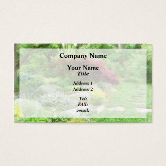 Cartão De Visitas Jardim com bordo japonês