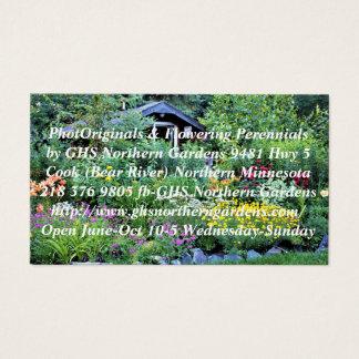 Cartão De Visitas Jardim da casa de campo como o crepúsculo