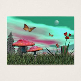 Cartão De Visitas Jardim da fantasia - 3D rendem