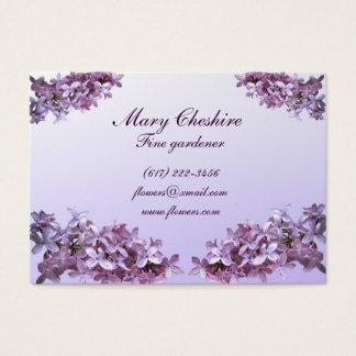 Cartão De Visitas Jardineiro elegante dos Lilacs