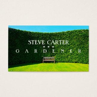 Cartão De Visitas Jardineiro, planta do cuidado do verde do