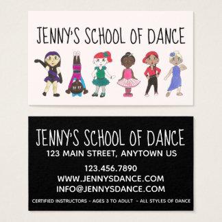 Cartão De Visitas Jazz Acro da torneira do balé do estúdio da escola