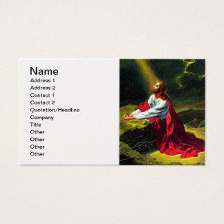 Cartão De Visitas Jesus Cristo que Praying no jardim de Gethsemane