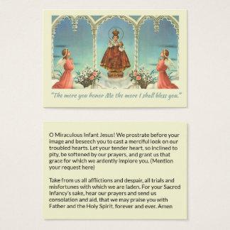 Cartão De Visitas Jesus infantil da oração dos anjos de Praga