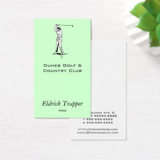 Cartão De Visitas Jogador de golfe
