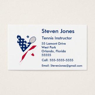 Cartão De Visitas Jogador do americano do tênis dos EUA