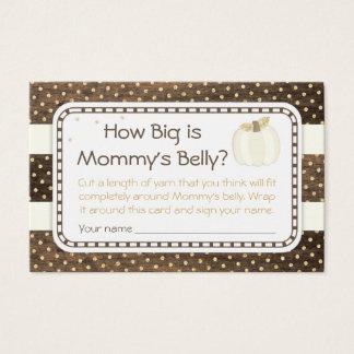 Cartão De Visitas Jogo da barriga da mamã do chá de fraldas da