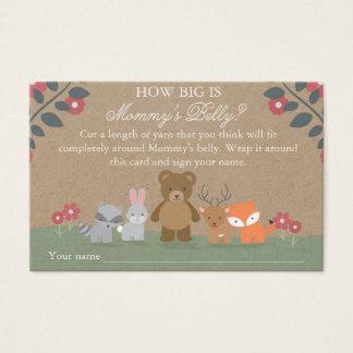 Cartão De Visitas Jogo floral da barriga da mamã do chá de fraldas