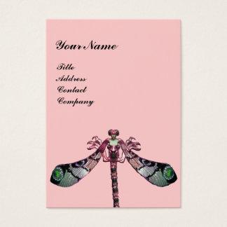 Cartão De Visitas JÓIA da MULHER da LIBÉLULA, verde, rosa preto